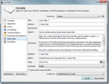 Scrivener Compile Ebook
